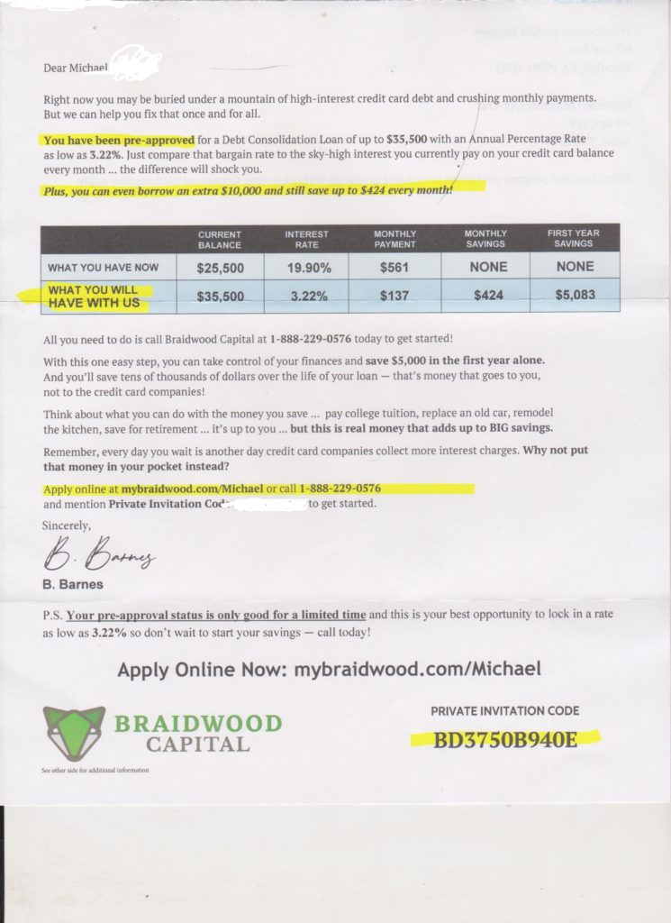 Braidwood Capital Scam