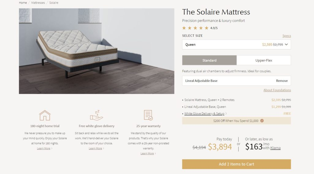 Solaire Mattress Review