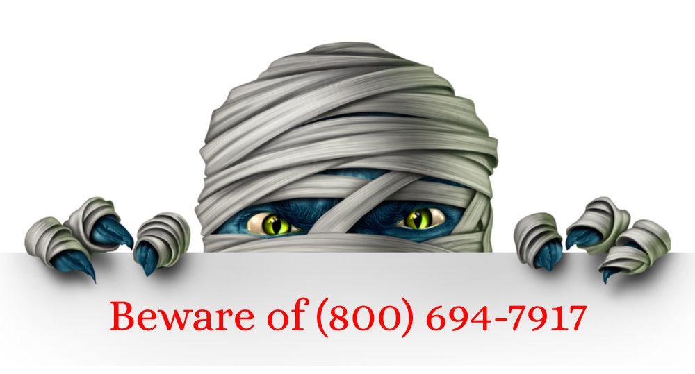 800-694-7917 scam