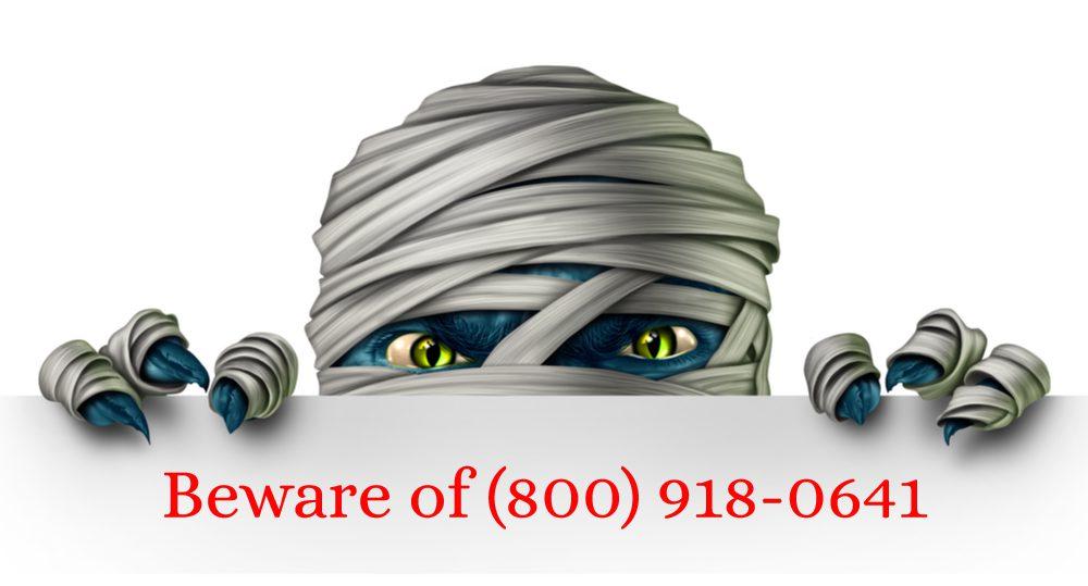 8009810641 scam