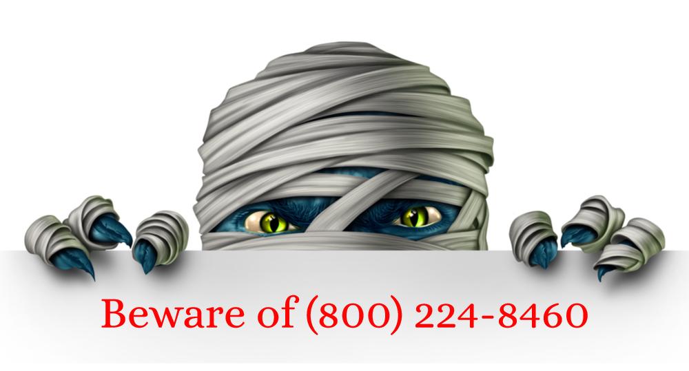 8002248460 debt scam