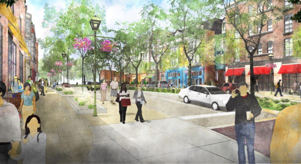 downtown okemos streetscape of hamilton